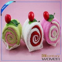 Hot Sale Christmas Cute Cake Towel
