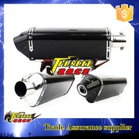 Universal black carbon fiber exhaust pipe for Motorcycle