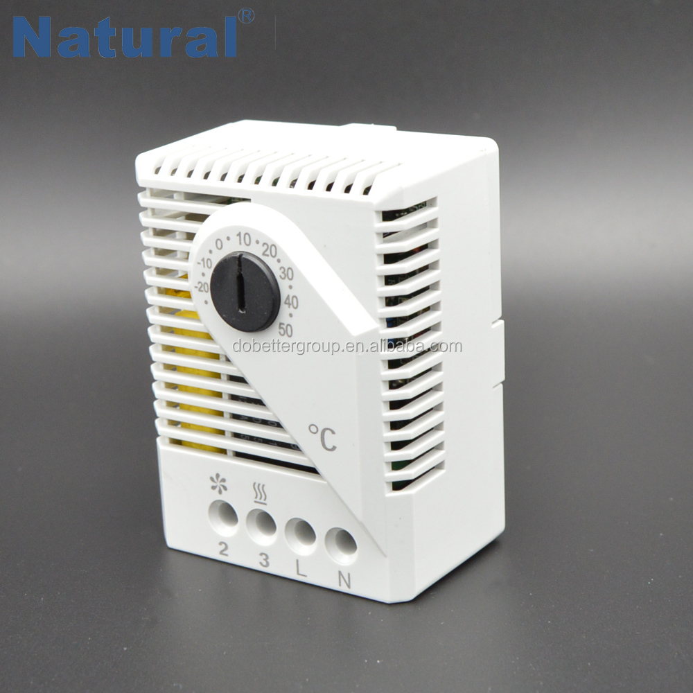 variable fitting position mechanical thermostat for heater /fan/ signal device