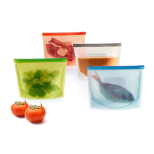 High Quality Food Grade Vacuum Reusable Leakproof Silicone Food Storage Bag