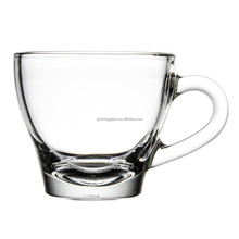 Clear glass espresso cup , coffee mug