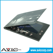 Lcd screen invitation video player greeting card for promotion advertising on business