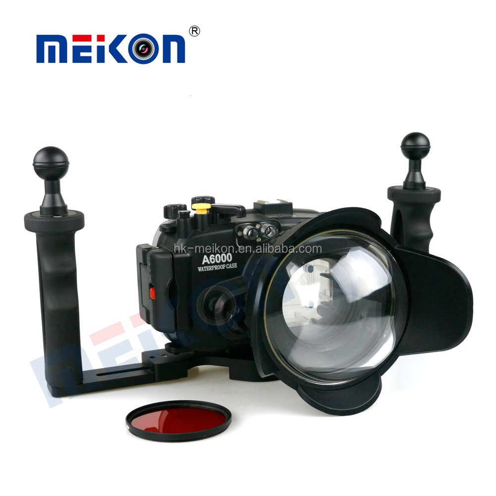 Meikon A6000 15-60mm lens waterproof diving camera case for Sony  camera A6000 underwater make photo