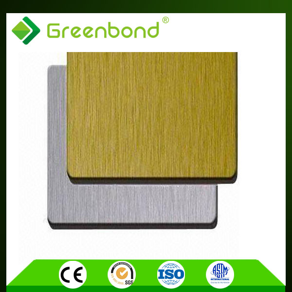 Greenbond mostrar ACM cepillo acp muro cortina with 4mm