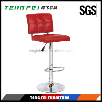 360 degree swivel bar stool, Certificated SGS gas lift,385mm chroming base.