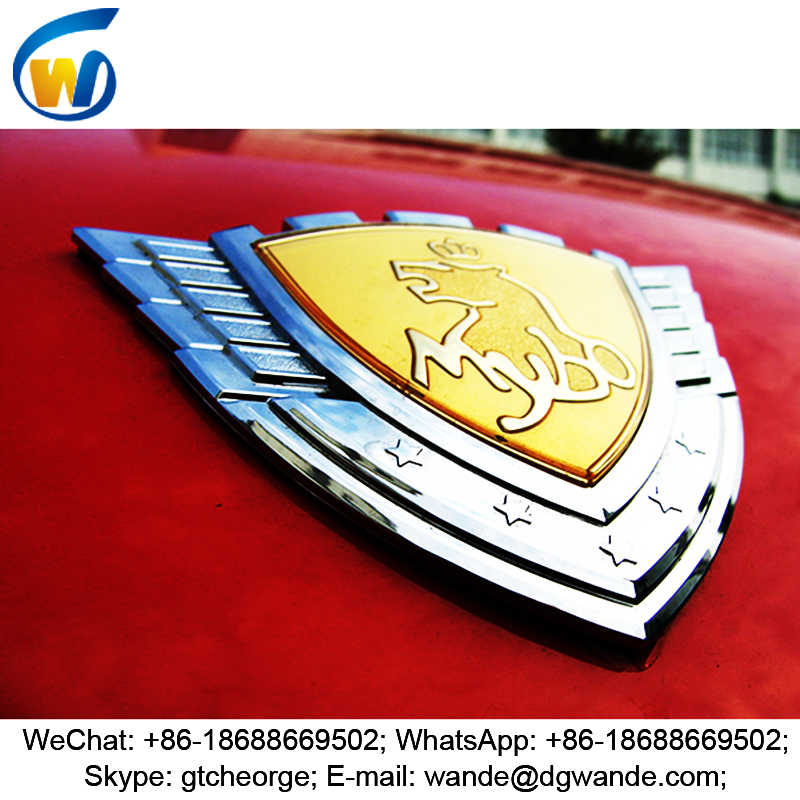 new style custom design car badges emblems, car labels, chrome car logo