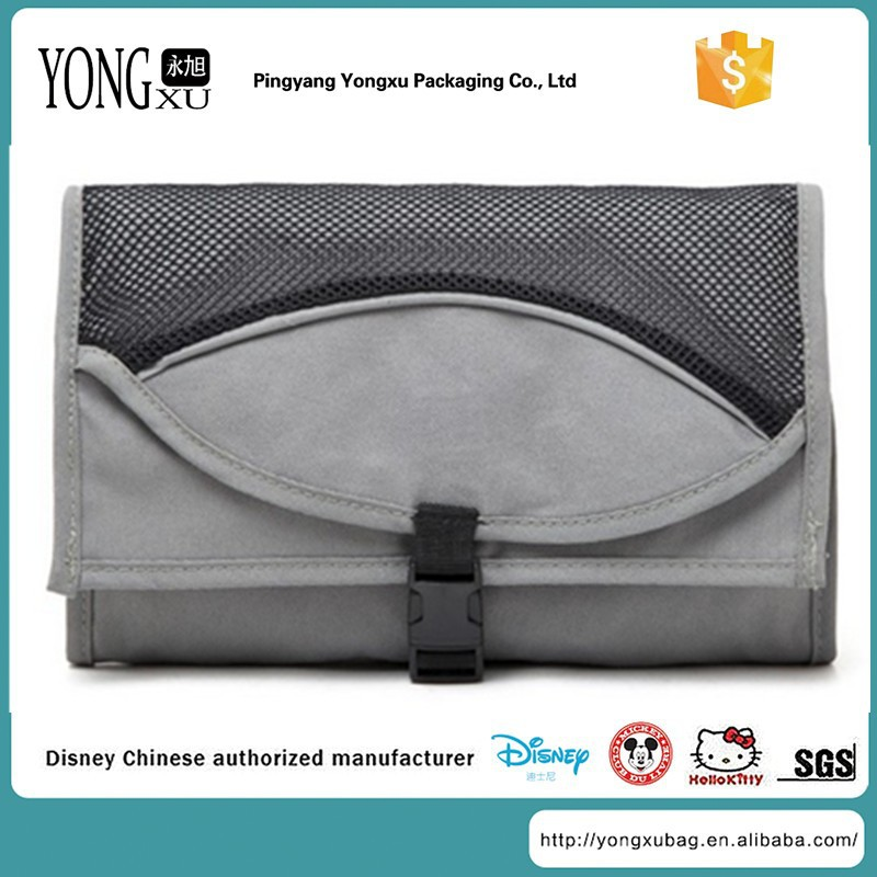 2015 new style fashion folding hanging promotional shopping bag, folding travel toiletry case bag, men hanging toiletry case
