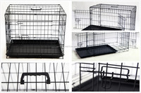 Pet folding Crates Puppy Dog Cat metal foldable cages 24 30 36 42 48 inch handle