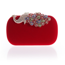 Hot sale flannel ladies new fashion evening bags clutch