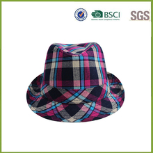 Colorful latticed snapback men's fedora hats price