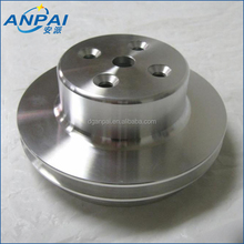Precisoin CNC Machining Milling Custom Aluminum 2 Double Groove Upper Water Pump Cover Pulley