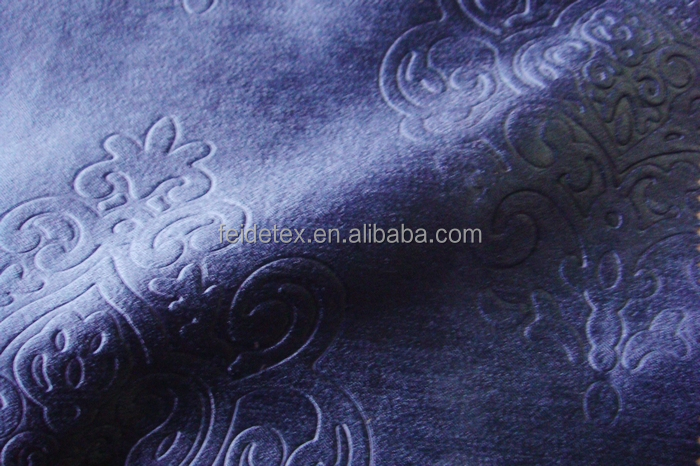 100% polyester 3d embossed luxury shade fabric