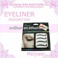 colorful crystal eyeliner/shadow sticker