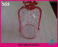 2014 high quality cheap recyclable soft clear PVC shrink promotion cosmetic bag