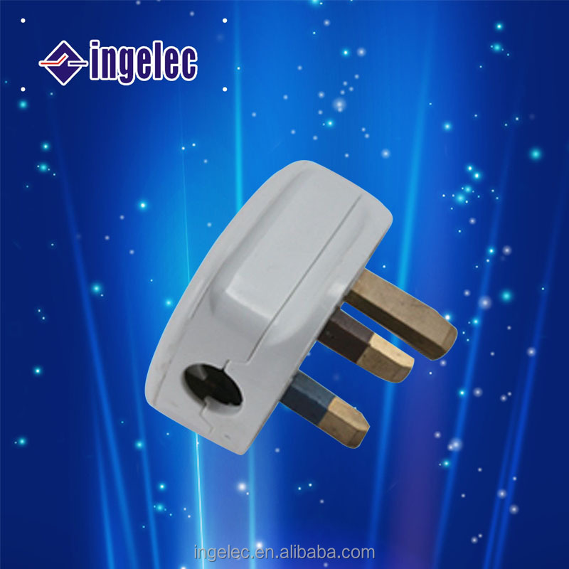 British Type Electrical Brass Plug Pin,Yiwu 3 pin Electric Male Wall Plug