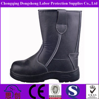 lightweight industrial mining leather pvc safety boots