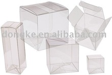 Plastic folded package box