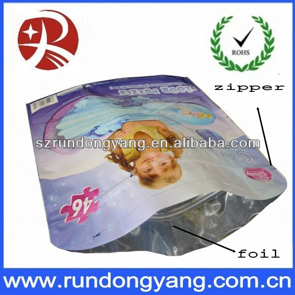 High quality aluminum foil ziplock bag for food
