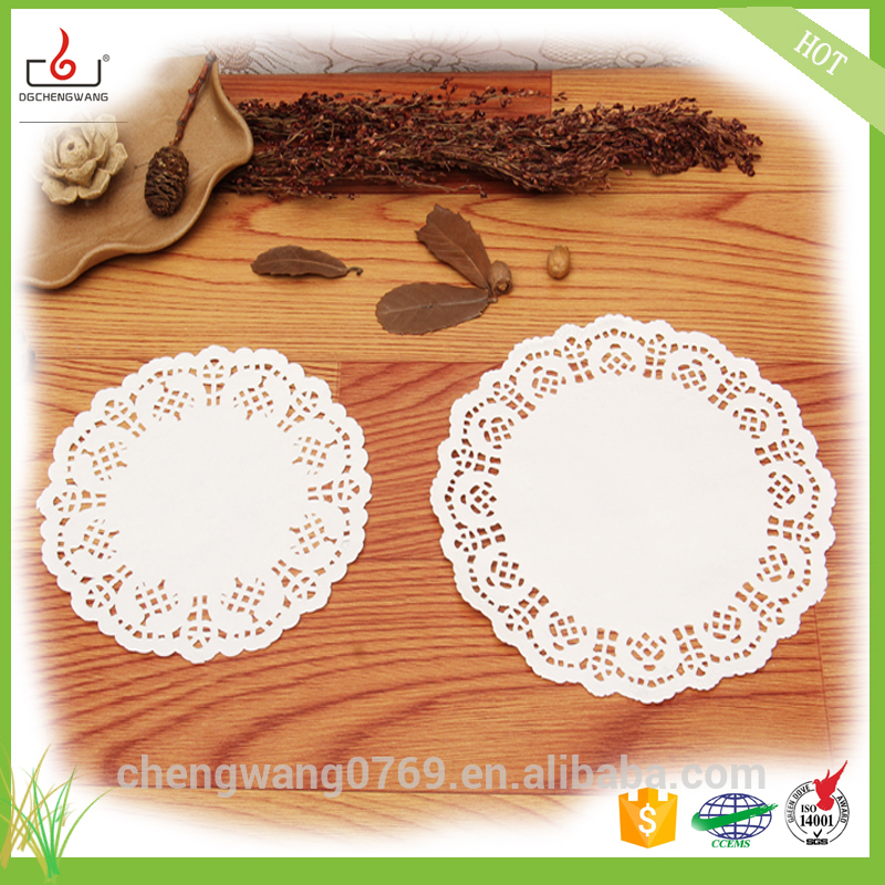 China manufacturers nature color paper doily for food with good quality