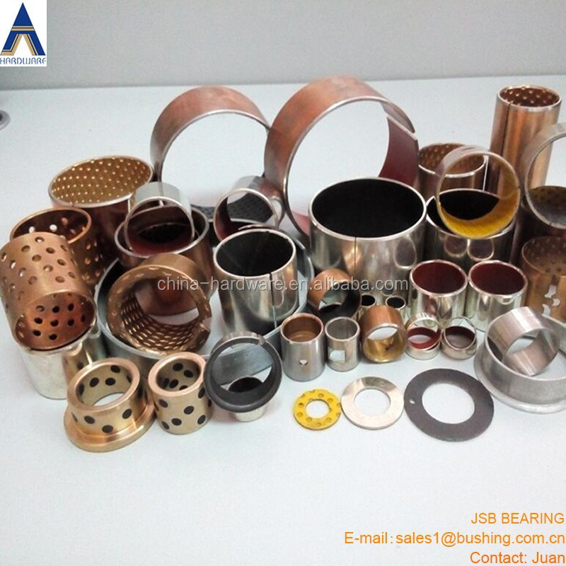 Injection Mold bimetal bushing, DU slide bearing SF-1 PTFE bush, POM DX SJ JF JDB WF802 SOB Graphite bush