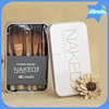 12pcs naked brand skin care tools wood handle synthetic hair naked 3 make up brush set