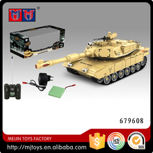 MEIJIN 1:28 scale 8 channel America M1A2 remote control tank rc tank with light & music included battery