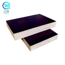 China Supplier 1220*2440*18mm E1 WBP glue Poplar Core Black Brown Film Faced Plywood Construction Tego For Sale