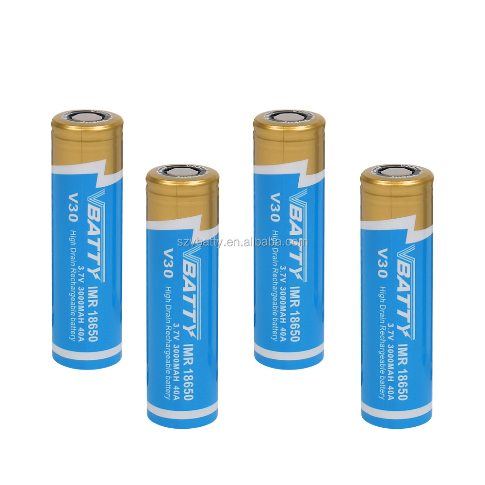 Vbatty V30 40A 18650 3000mAh3.7V Rechargeable Battery Cell V30 18650