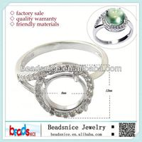 Beadsnice ID 27335 2014 new design DIY accessories ring mounting 925 sterling silver jewelry wholesale