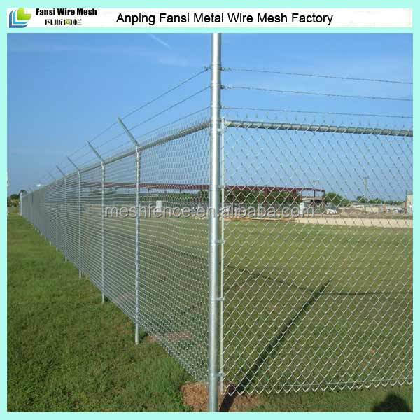 Galvanized Used Chain Link Security Fence With Single Y Arm ...