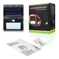 Custom Logo Solar Powered Motion Sensor Outdoor Light for Garden