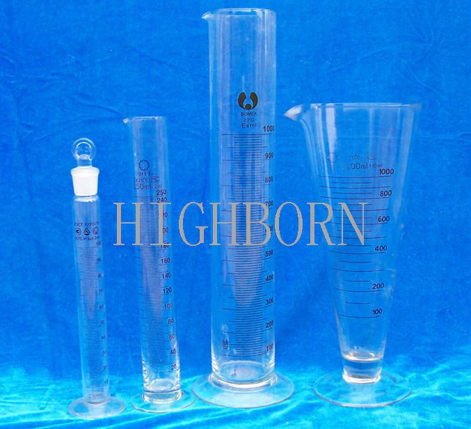 Graduated quartz glass cylinder for lab use