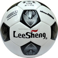 Selling well of size5 laminated cow leather football cheap soccer ball