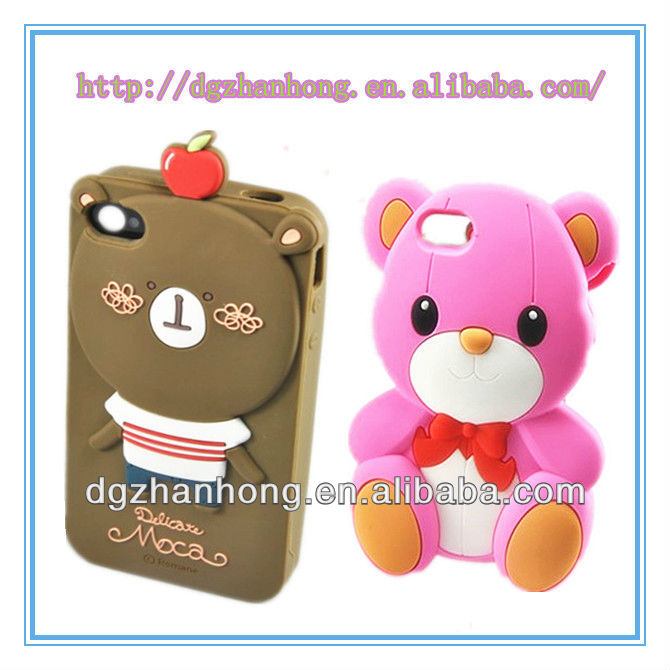 Phone protector: 3D animal shape hello kitty rhinestone cell phone case