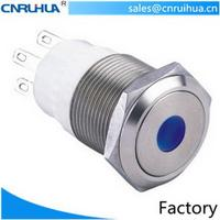 Modern promotional waterproof self lock push button switch