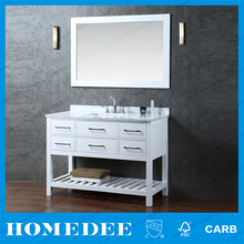 48' white euro style bathroom vanity with cheap price