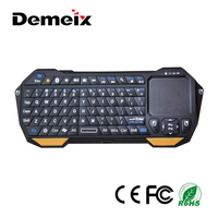 2.4Ghz Portable Mini Ultrathin Wireless Bluetooth 3.0 Touchpad Keyboard for Android IOS Windows