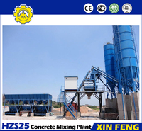 China supplier HZS25 planta mezcladora de concreto