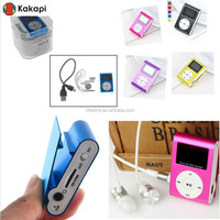2015 support driver digital mini clip mp3 player manual with TF card slot and LCD screen