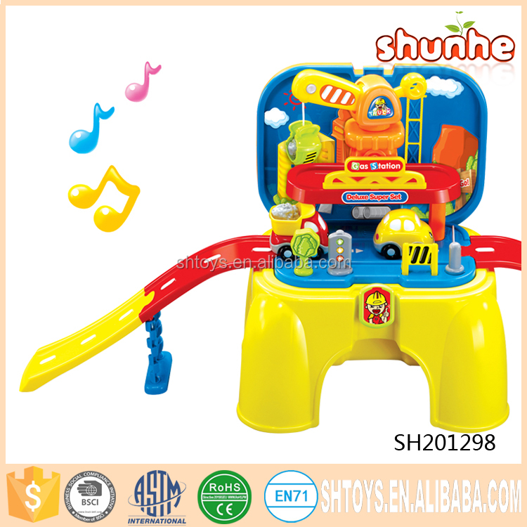 Funny electric slot racing railway car track toys