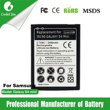 original mobile phone battery For Samsung Galaxy S4 Mini/ i9192/i9198/Galaxy S4 Mini LTE/i9190/i9195