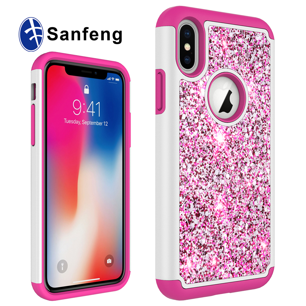 Case for iphone X, glitter bling protective case phone cover for Iphone X mobile