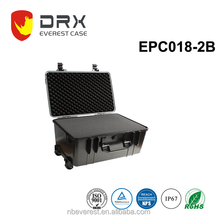 Ningbo everest EPC018-2B IP67 Gun Safe With Combination Lock Plastic Tool Box locking Carrying Case Army Military Case