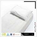 Cotton white bed sheets for hotels and hospitals by China supplier