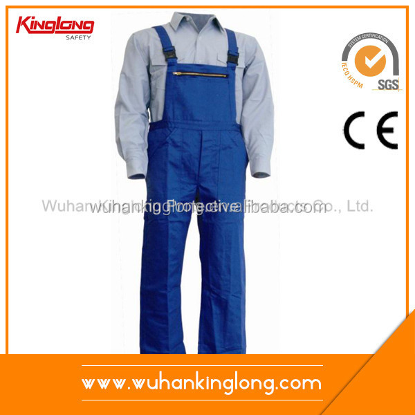 Hot-Selling High Quality Low Price Polyester Cotton Bib Pants Uniform