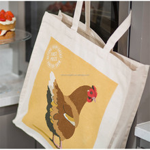 wholesale custom print Personalised shopper cotton promotional bag with gusset
