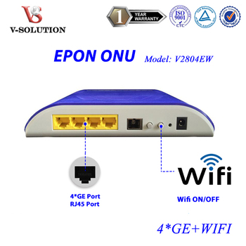 CE Certification 4 GE + WiFi EPON Industrial ONU Fully Compatible with Huawei ZTE OLT