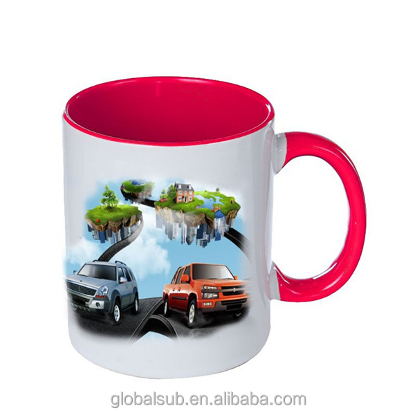 Heat Changing Sublimation 3D Photo Ceramic Cartoon Inner Mugs