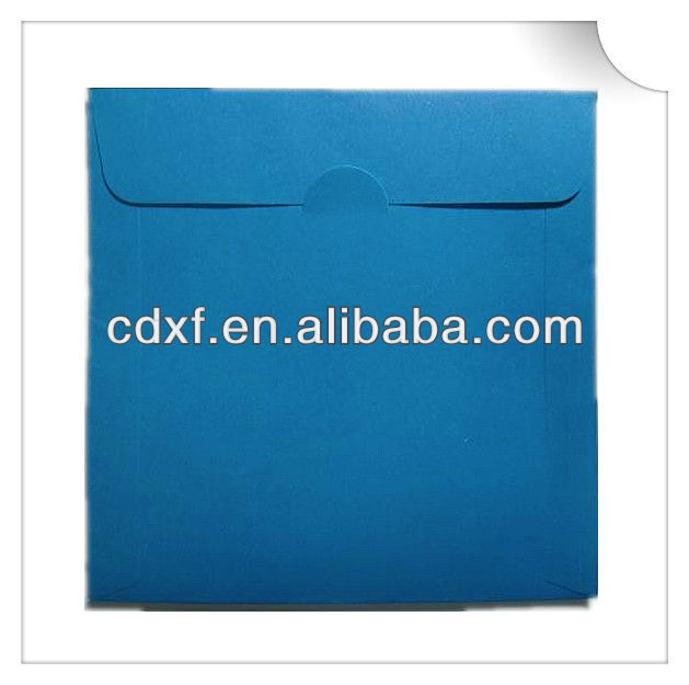 Paper envelope with clear poly window for cd/dvd pack
