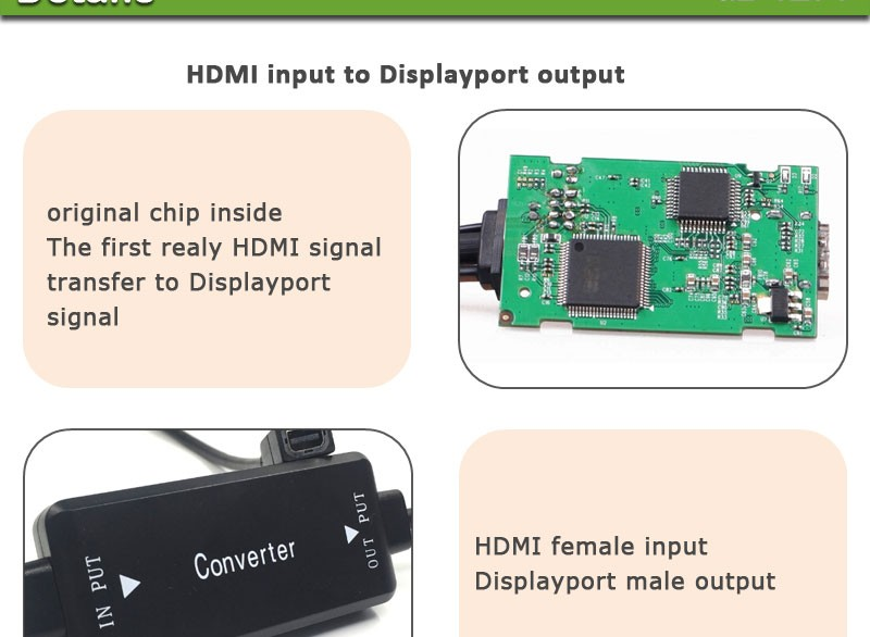 Vision customized high quality displayport female to hdmi male adapter